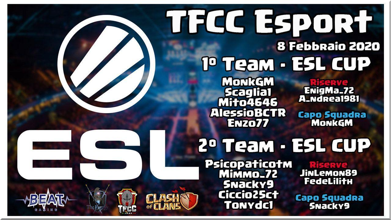 Buona fortuna TFCC in ESL Play Febbraio 2020