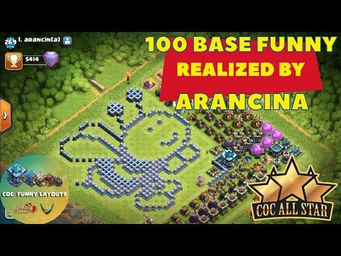 100 TH13 funny BASE made by arancin[a] Troll Base Layout + Link Clash of Clans