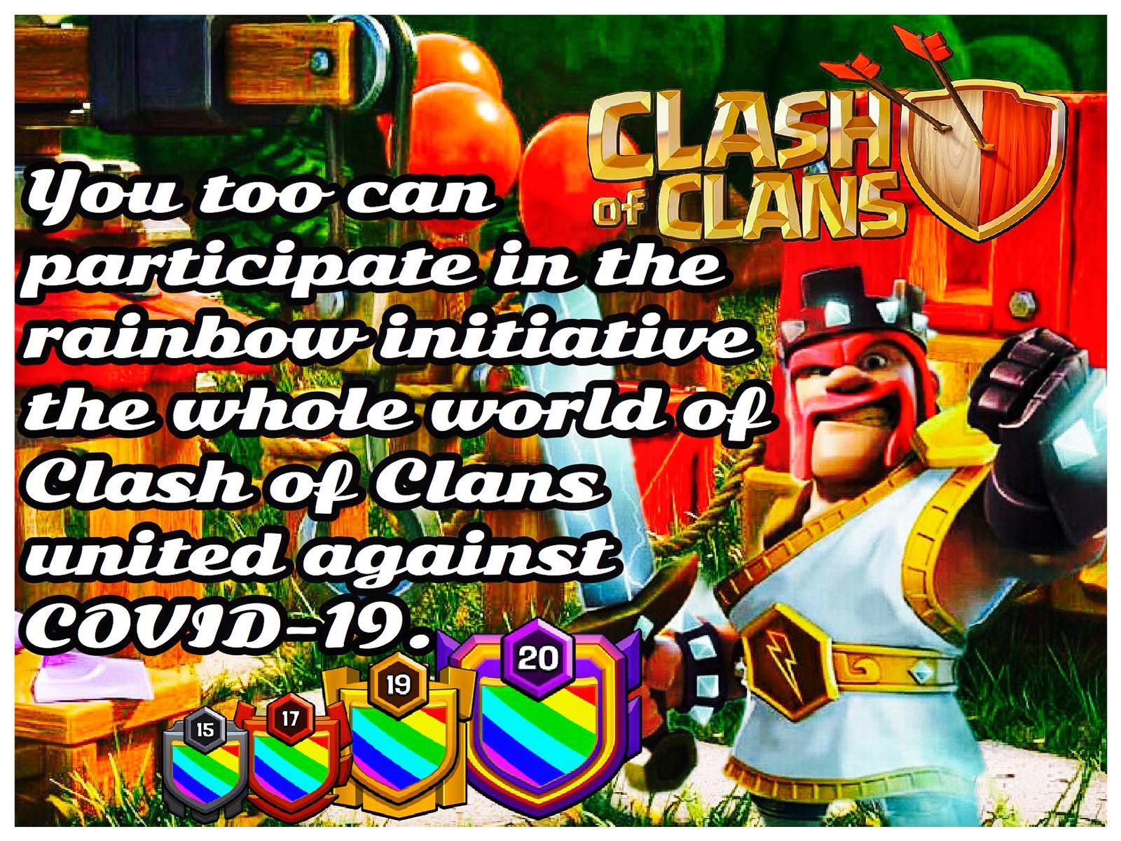 🌈 #rainbowiniziative: l'iniziativa dei giocatori di Clash of Clans, uniti contro il COVID-19
