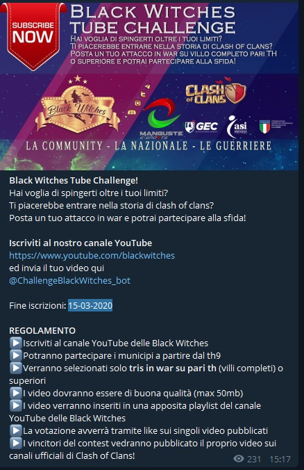 photo 2020 02 11 18 10 32 - Iscriviti anche tu al Canale YouTube delle Black Witches &  Clash of Clans All Star