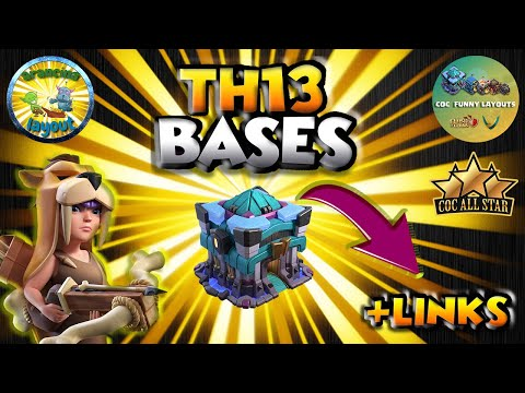 Top 15 TH13 WAR BASES/CWL + LINKS 2020 May Best Town Hall 13 War Base Clash of Clans Top Th13