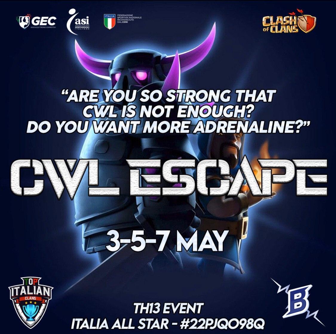 CWL ESCAPE con Top Italian Clans
