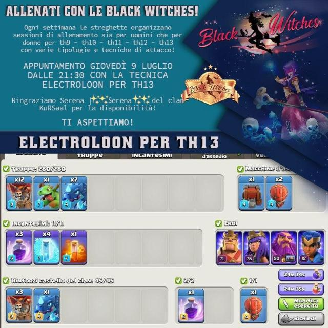 photo 2020 07 08 18 44 30 - Electroloon per th13 con le coach stregate su Clash of Clans