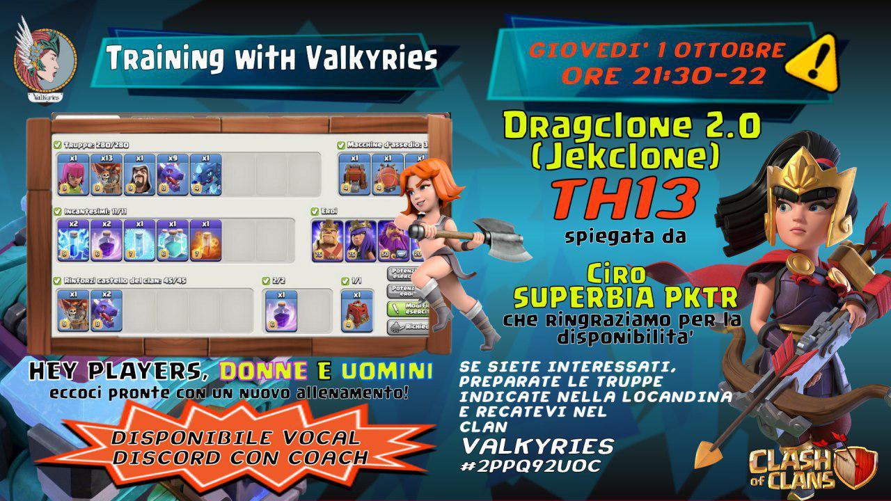 Allenamento con le Valkyries – Dragclone 2.0 per TH 13 (Jekclone)