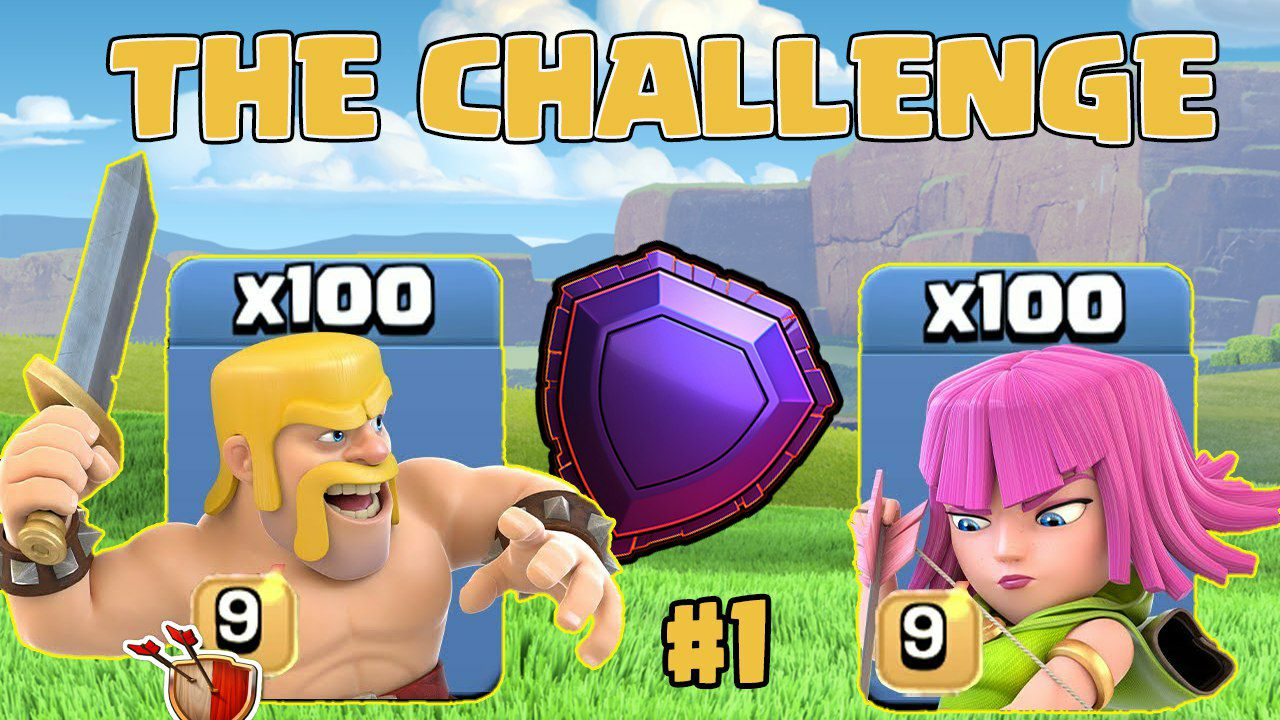 BARCH is POSSIBLE in Legends? // CLASH OF CLANS THE CHALLENGE