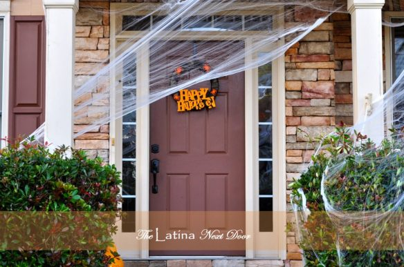 Halloween Front Door 1024x680 Decorating for Halloween on a Budget