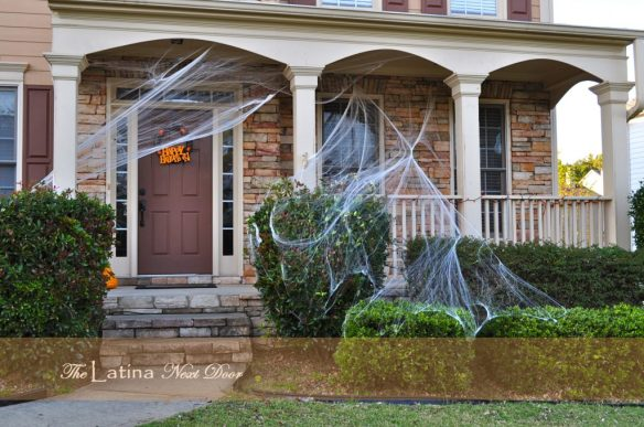 Halloween Porch 1024x680 Decorating for Halloween on a Budget