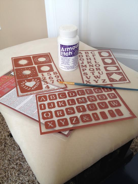 Armour Etch Stencils An Easy Gift Everyone Will Love...