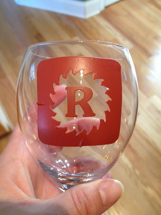 Glass with Stencil An Easy Gift Everyone Will Love...