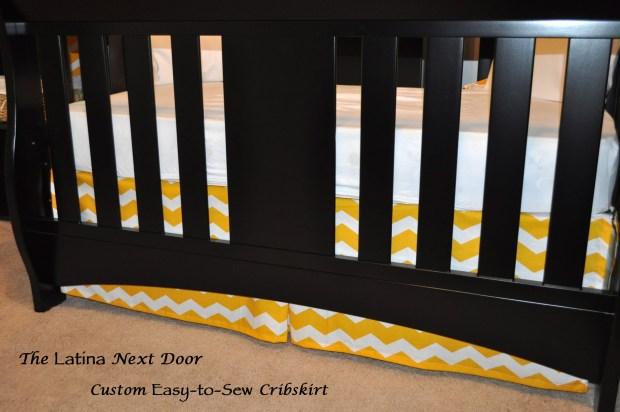Cribskirt 1024x680 Nephews Nursery Reveal