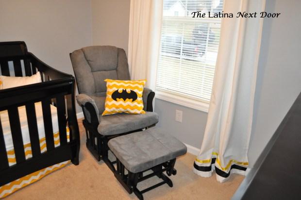 Rocking Chair with Custom Pillow 1024x680 Nephews Nursery Reveal