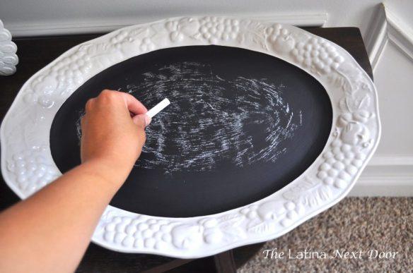 White Dish Chalkboard 1 1024x680 De Plato a Pizarra
