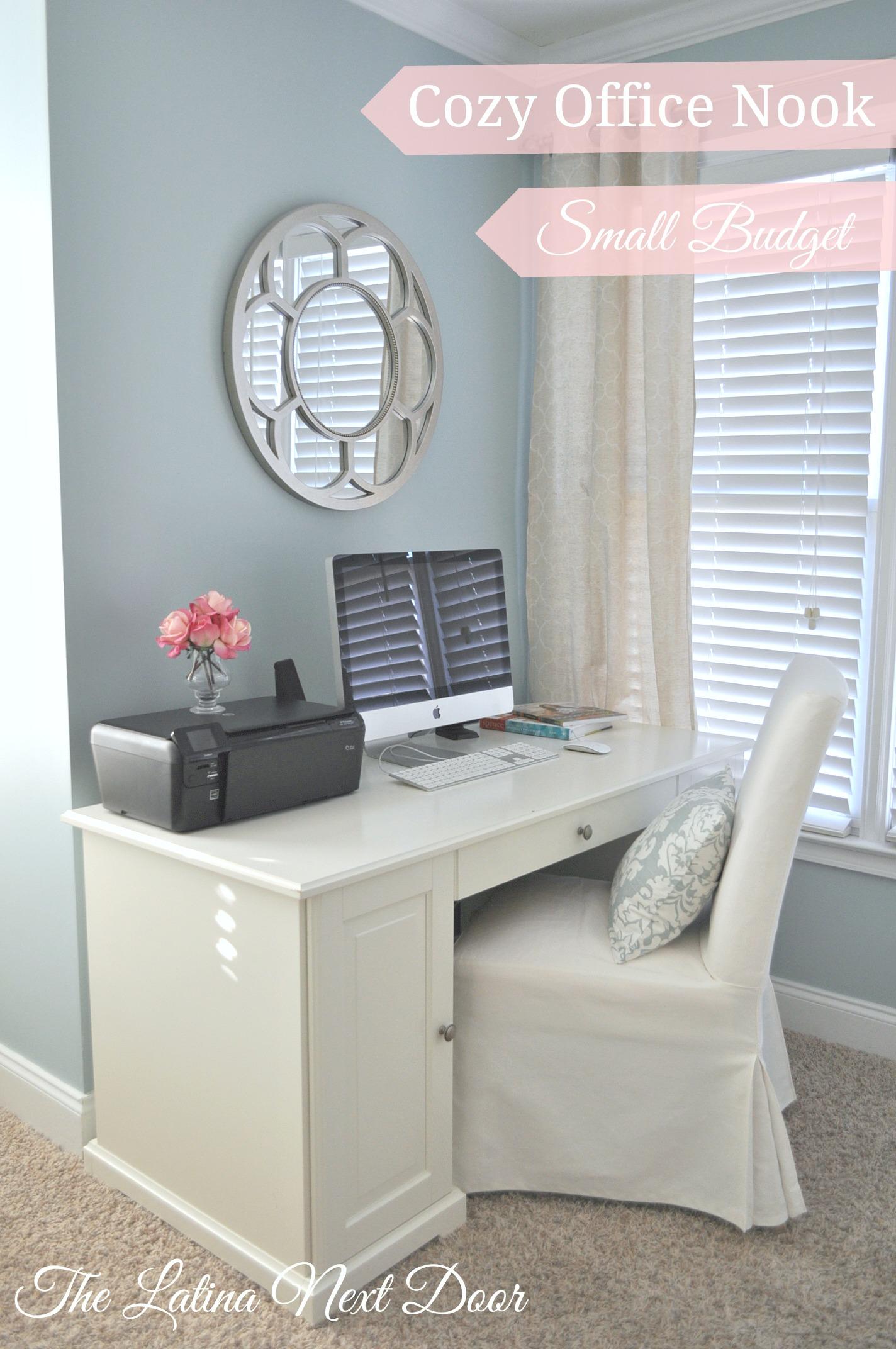 Cozy Office Nook Small Budget The Latina Next Door