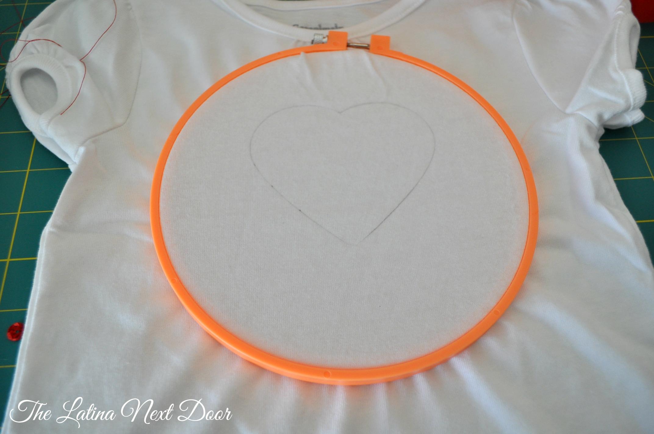 DIY Sequin Heart Tee Tutorial 4 DIY Sequin Heart T shirt Tutorial for Valentines Day