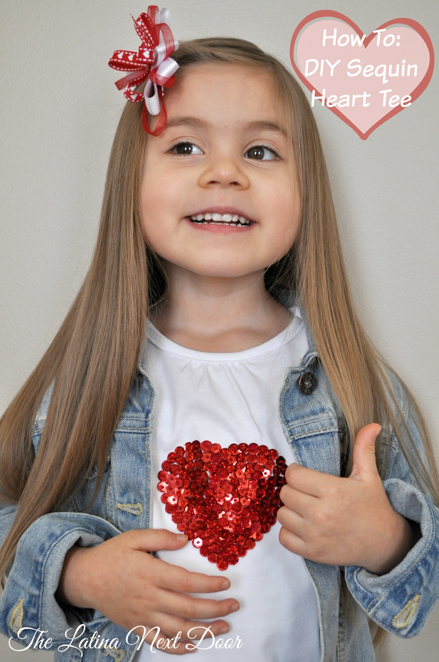 DIY Sequin Heart Tee Valentines DIY Sequin Heart T shirt Tutorial for Valentines Day