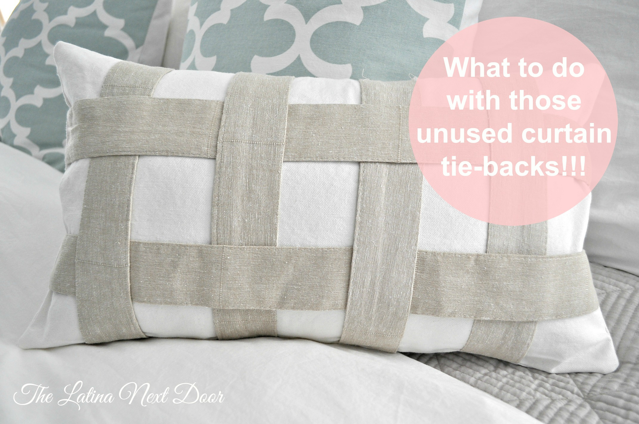 Tie Back Pillow Pin Repurpose those unused curtain tie backs