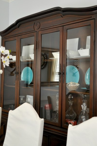 China Cabinet Transformation & Dining Room Update