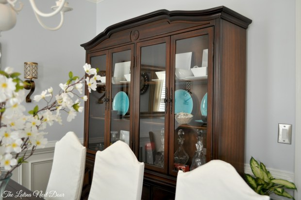 China Cabinet After with Chairs 1024x680 China Cabinet Transformation and Dining Room Update