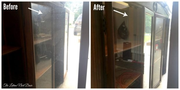 China Cabinet Glass 1024x512 China Cabinet Transformation and Dining Room Update