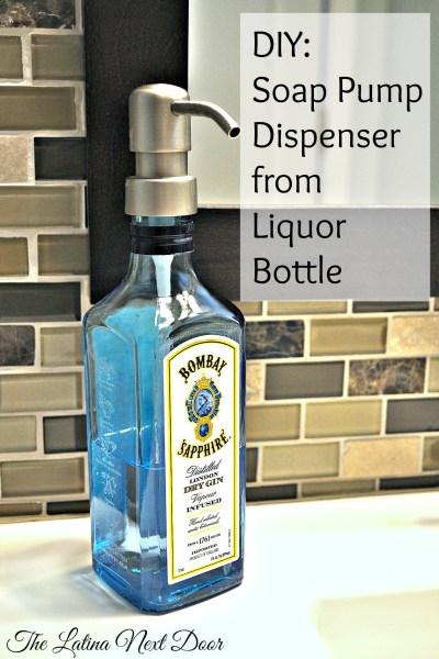 Soap Pump Dispenser from Liquor Bottle