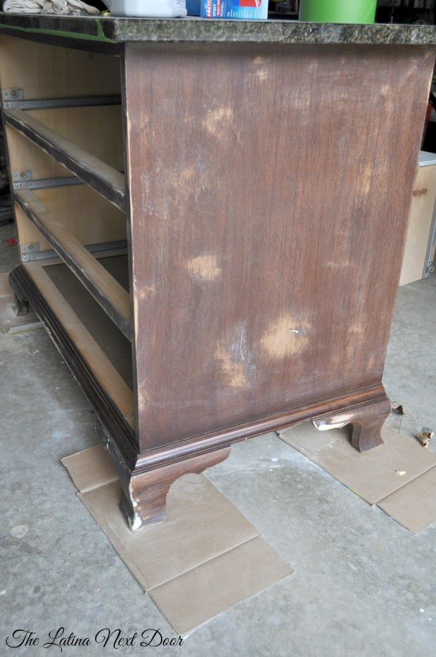 Dresser Sanded 680x1024 How to Repair Granite   The Inexpensive Way
