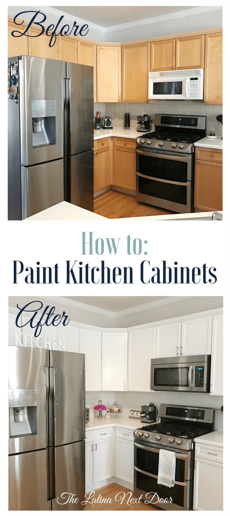 How to Paint Kitchen Cabinets long pin How To Paint Kitchen Cabinets