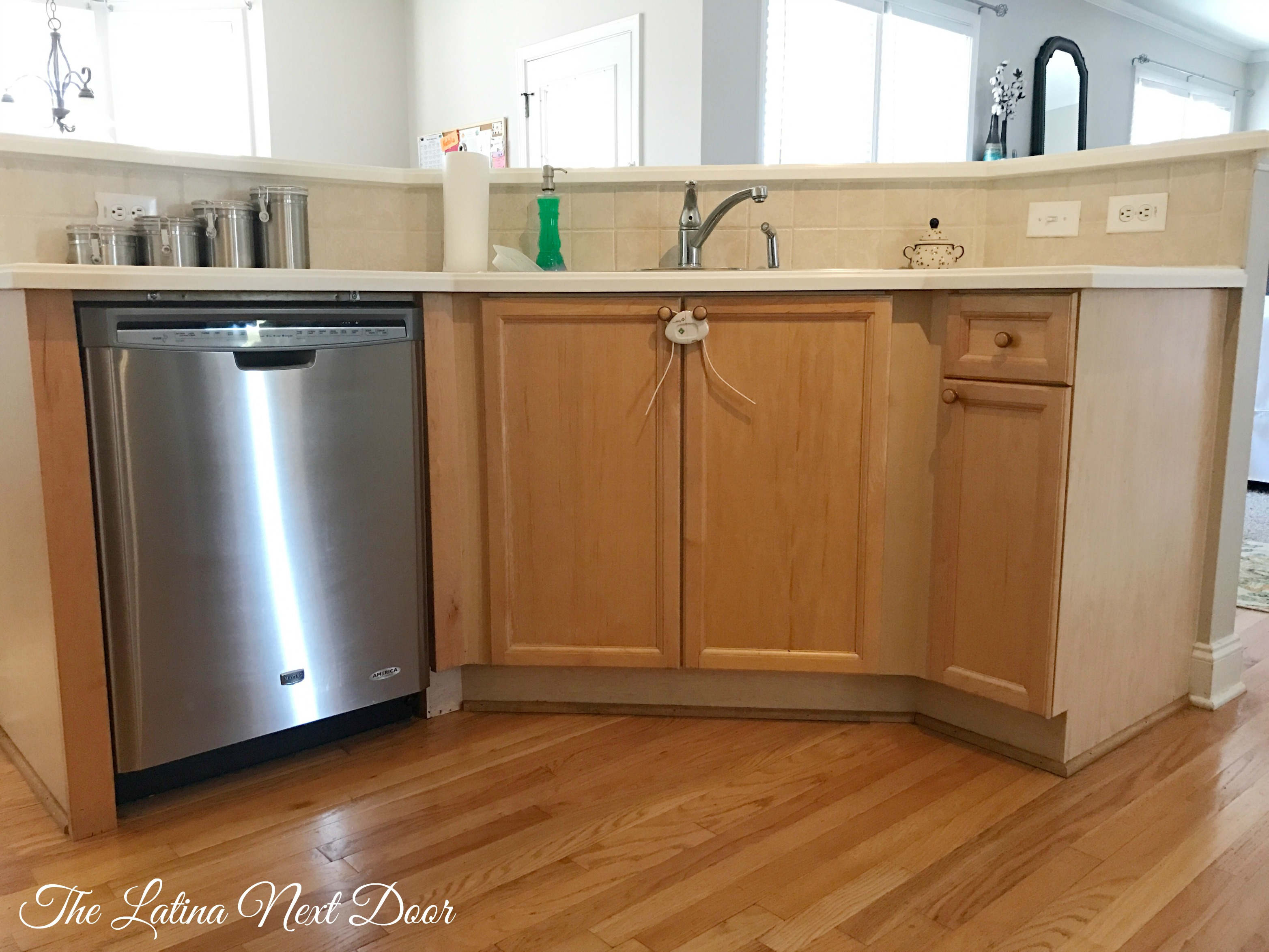 SW Painted Kitchen Before 3 How To Paint Kitchen Cabinets