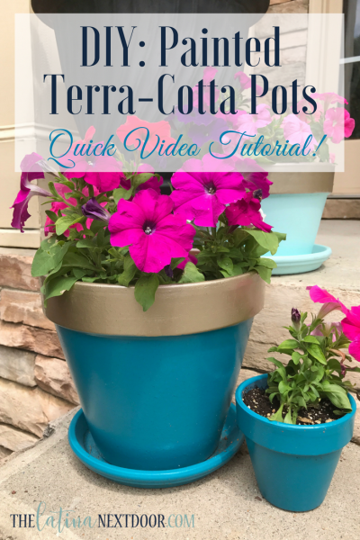 DIY Painted Terra-cotta pots