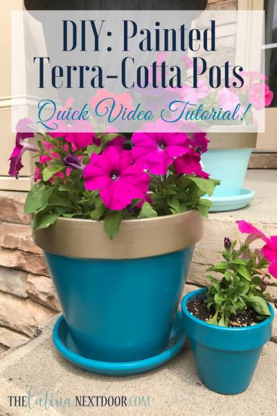 DIY Painted Terra-cotta pots