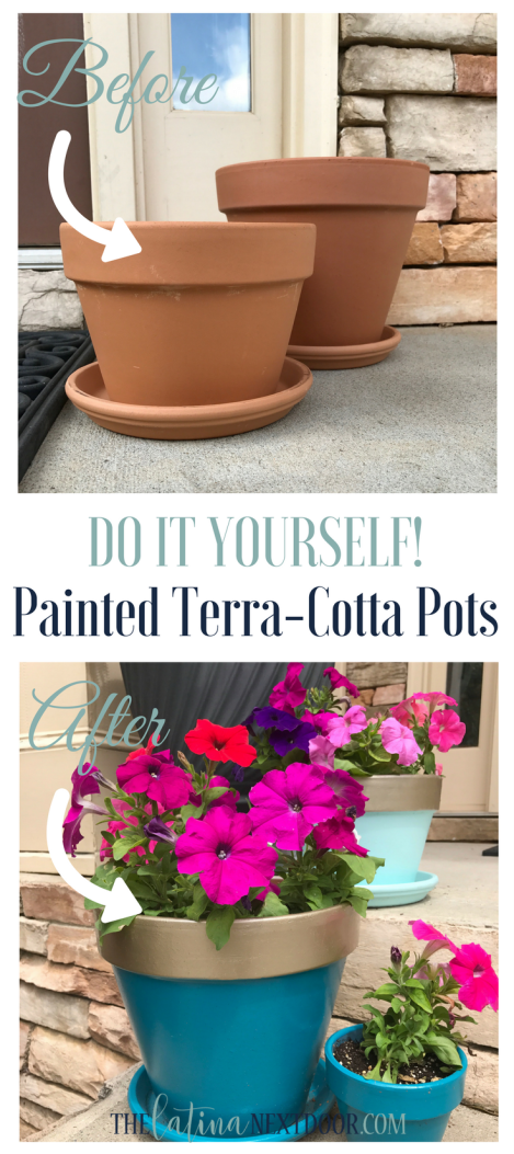 DIY Painted Terra cotta pots copy DIY Painted Terra Cotta Pots