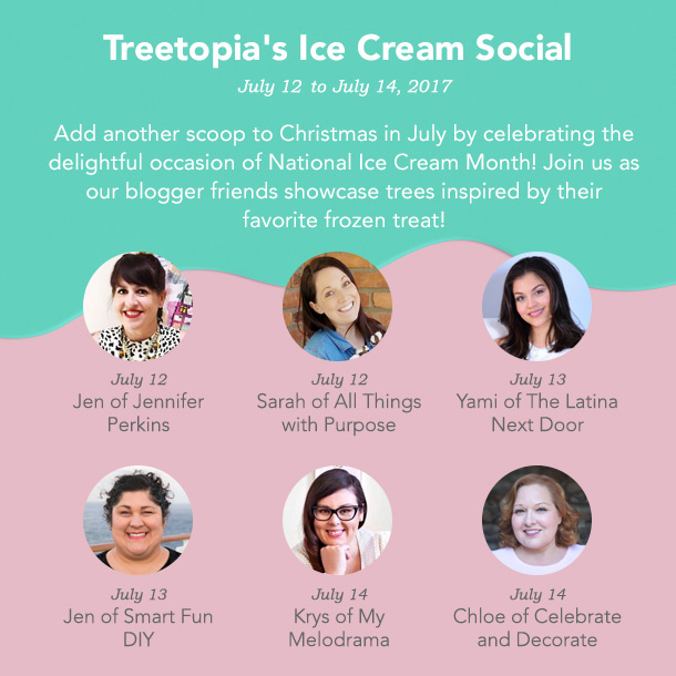 Ice Cream Social Camapaign Image Headshots Christmas in July Ice Cream Social Blog Hop