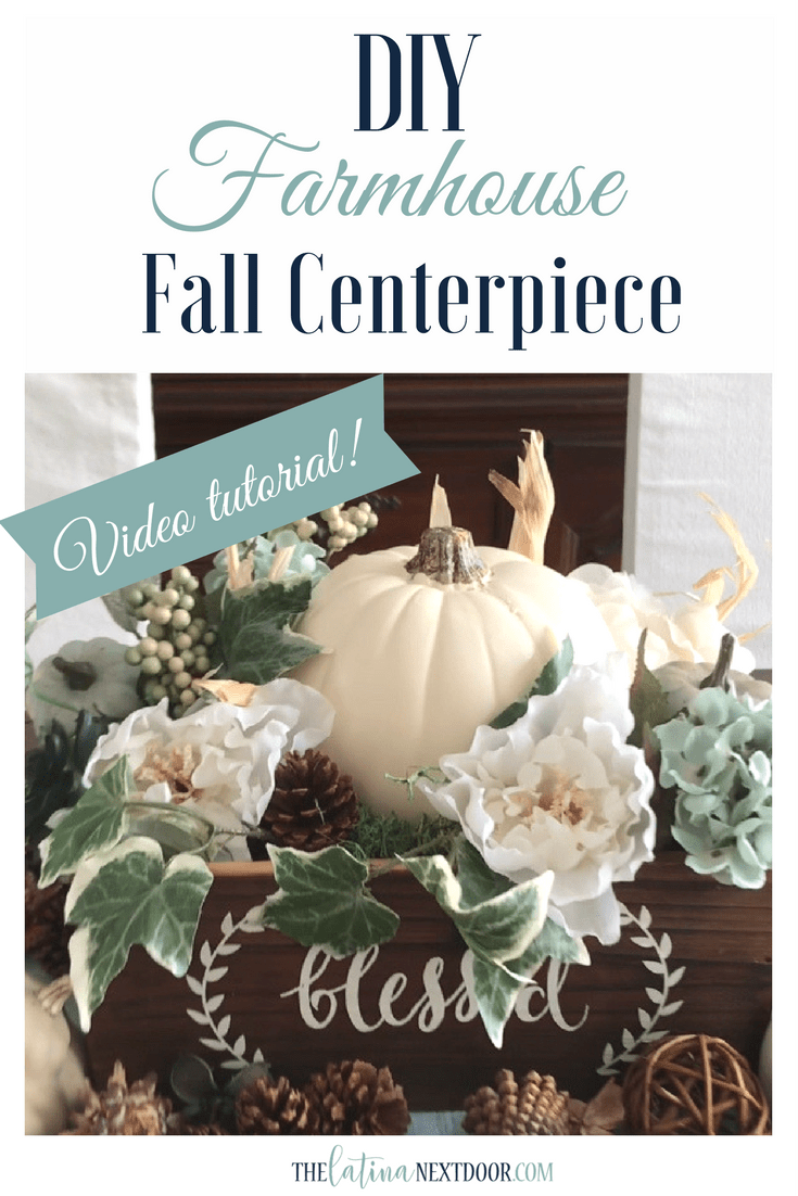 DIY Farmhouse FAll Centerpiece DIY Farmhouse Fall Centerpiece