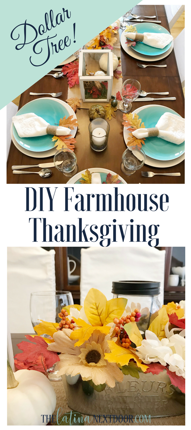 Dollart Tree Thanksgiving 1 2 DIY Farmhouse Thanksgiving Table
