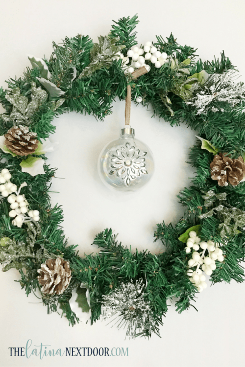 6 3 DIY Dollar Tree Christmas Wreath
