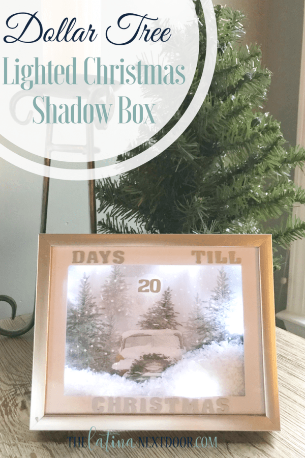 Dollar Tree Shadow Box : dollar, shadow, Christmas, Lighted, Shadow, Latina