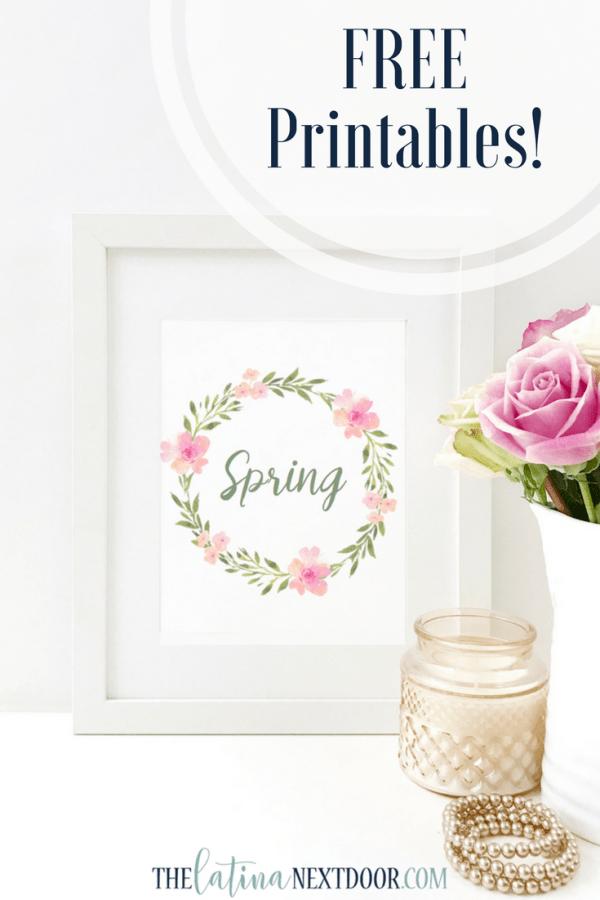 Free Printables 1 Free Spring Printables