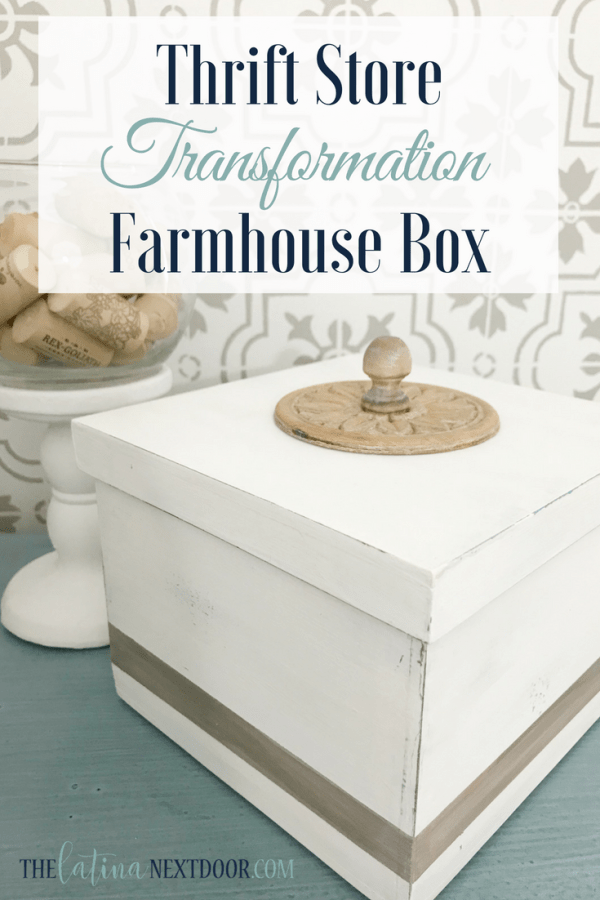 Thrift Store Farmhouse Box Thrift Store Farmhouse Box