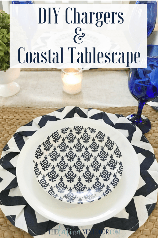 DIY Chargers Coastal Tablescape Pin 1 DIY Chargers & Coastal Tablescape