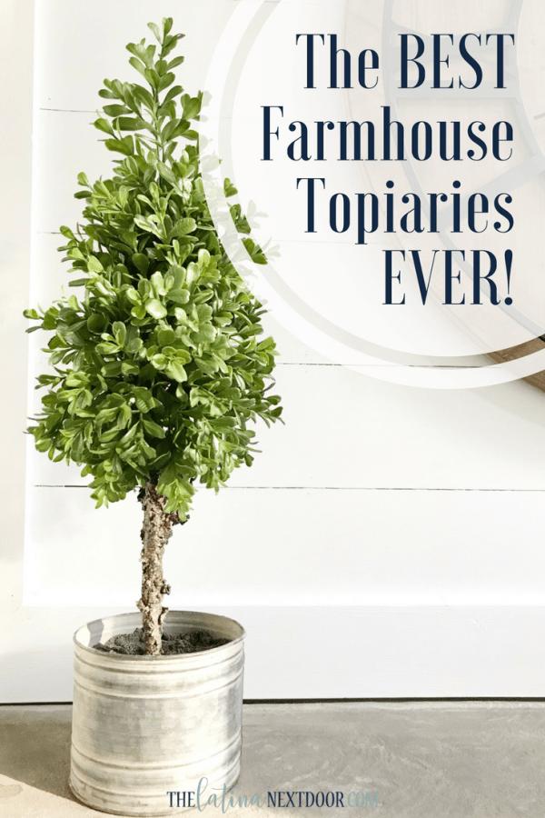 Farmhouse Topiaries Pin The Best Farmhouse Topiaries