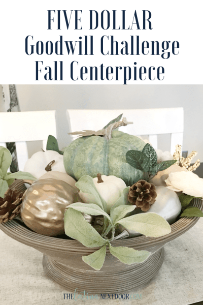 5 Dollar Goodwill Challenge Fall Centerpiece 2018