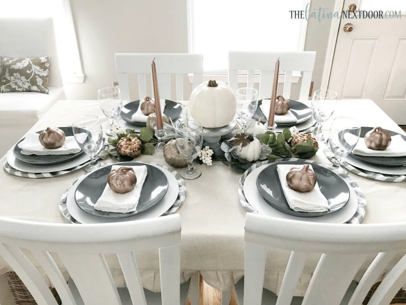 Neutral Farmhouse Fall Tablescape 9 Neutral Farmhouse Fall Tablescape