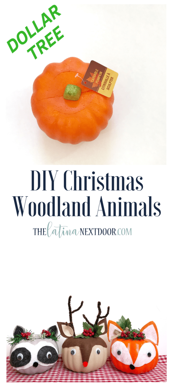 DIY Dollar Tree Christmas Woodland Animals Long Pin DIY Dollar Tree Christmas Woodland Animals
