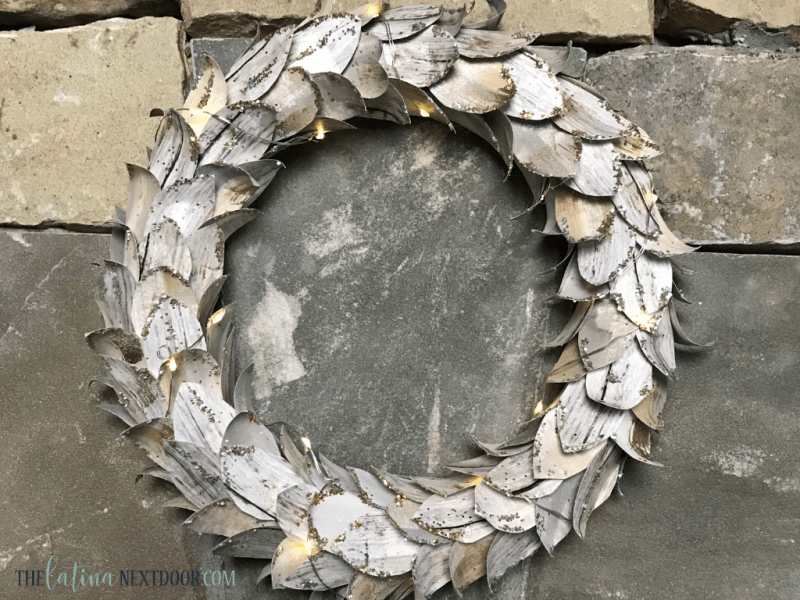 DIY Lit Birch Wreath 10 DIY Lit Birch Wreath   Pottery Barn Dupe