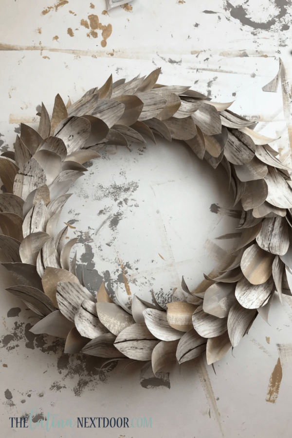 DIY Lit Birch Wreath 7 DIY Lit Birch Wreath   Pottery Barn Dupe