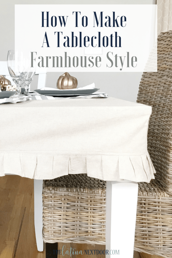 How to Make a Tablecloth Farmhouse Style 18 How to Make a Tablecloth Farmhouse Style