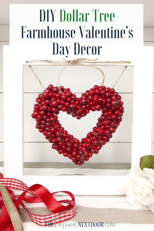 DIY Dollar Tree Valentines Day Decor Pin DIY Dollar Tree Valentines Day Decor