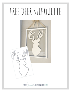 %name Free Reindeer Silhouette Pattern