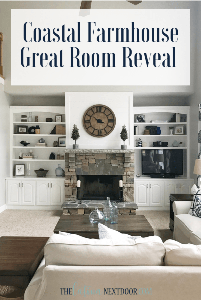 Coastal Farmhouse Great Room Reveal