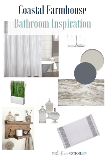 Coastal Farmhouse Bathroom Inspiration & Before