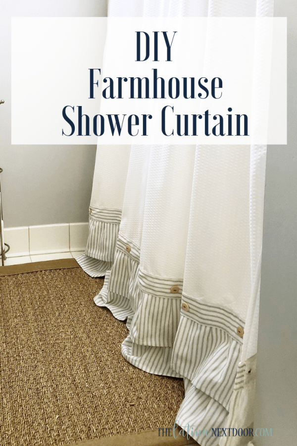 DIY Farmhouse Shower Curtain DIY Farmhouse Shower Curtain